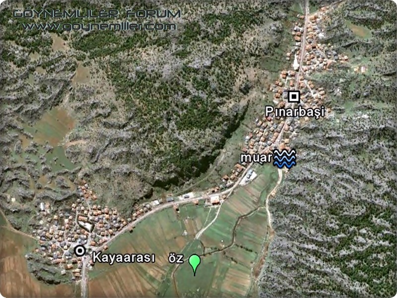 Bakılar,Geydeş,Kayaarası ve Pınarbaşı'na uzaydan bakış Pinarb11
