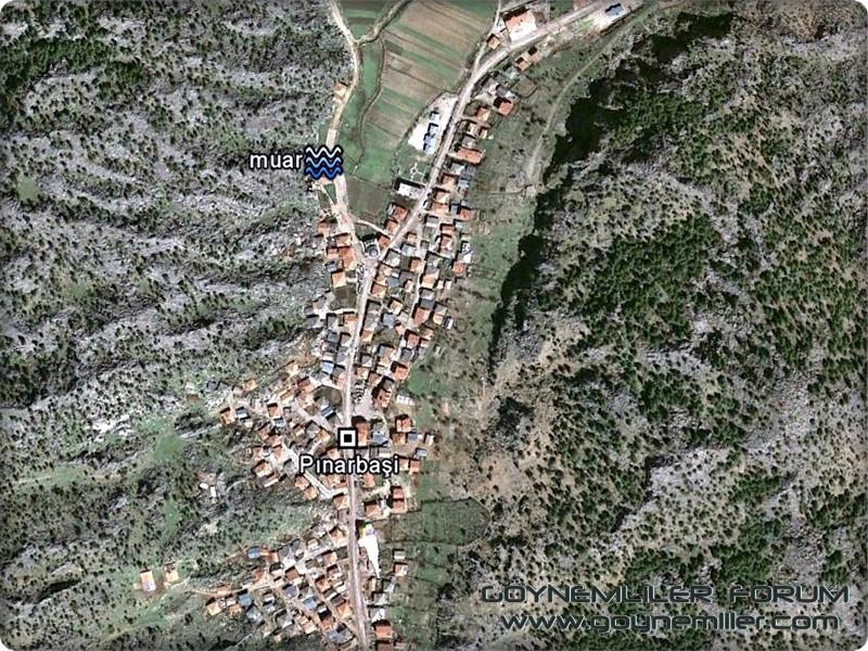 Bakılar,Geydeş,Kayaarası ve Pınarbaşı'na uzaydan bakış Pinarb12