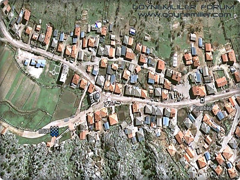 Bakılar,Geydeş,Kayaarası ve Pınarbaşı'na uzaydan bakış Pinarb14