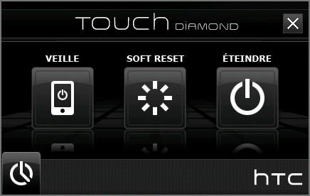 TouchOff - Eteindre ou Redémarrer son HTC Diamon10