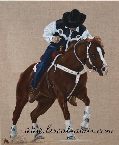 Cathy peintre animalier - Page 6 Cowboy10