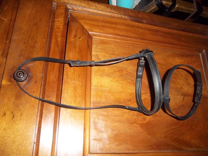 Muserolle pour bridon d'endurance noir taille cheval Imgp0110