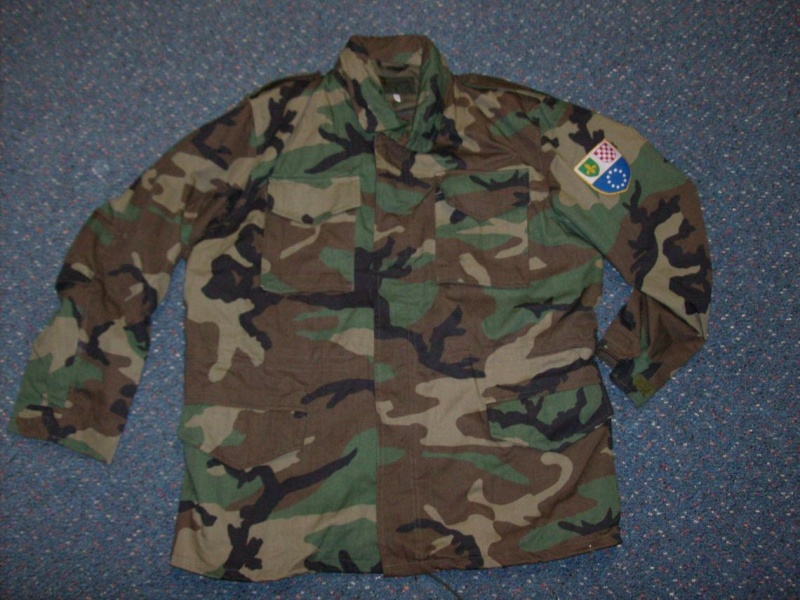 Bosnian woodland camouflage jacket & shirt Bosnia13