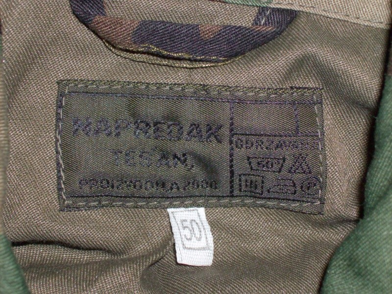 Bosnian woodland camouflage jacket & shirt Bosnia14