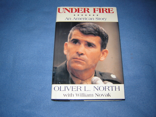 "Oliver North Autographed Biography ""Under Fire"" (originally posted by nkomo) Drug_012"