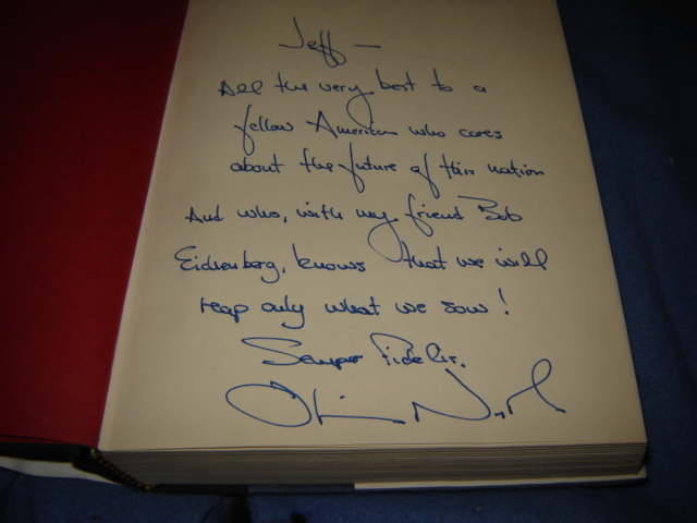"Oliver North Autographed Biography ""Under Fire"" (originally posted by nkomo) Drug_013"
