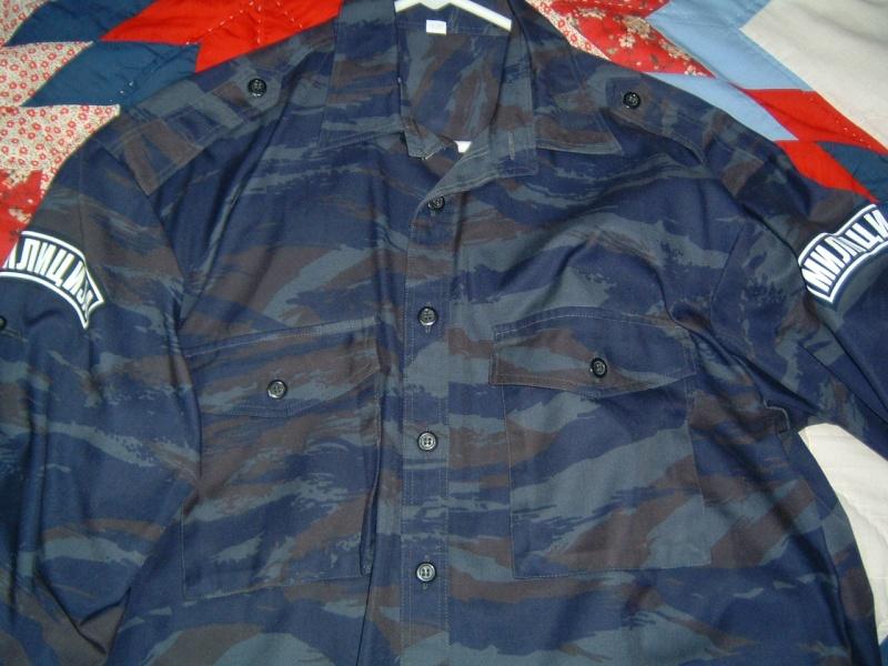 Serbian blue tiger stripe police shirt Serb_b10