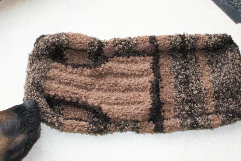 Manteau laine Marron  (tricoté main) Dsc04014