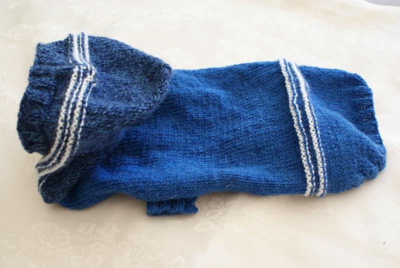 Manteau laine bleu avec capuche. Dsc05017