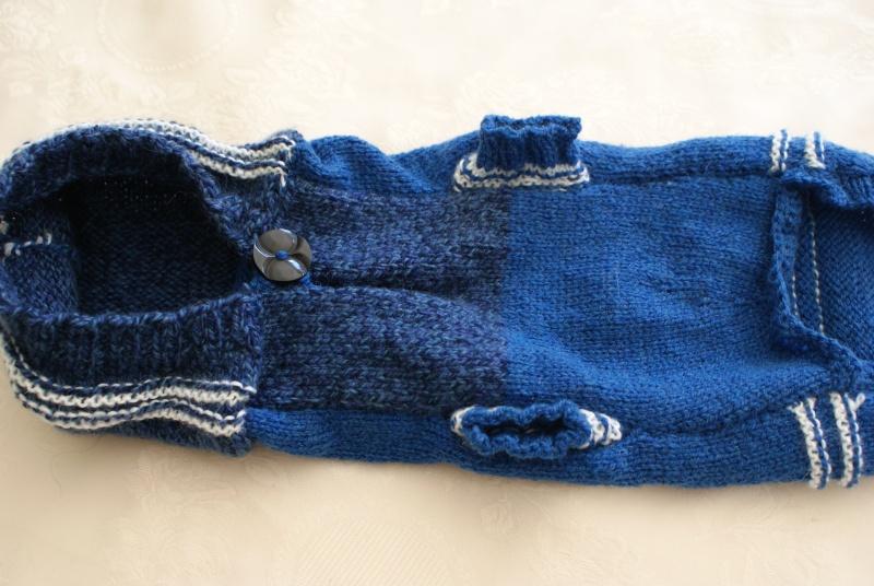 Manteau laine bleu avec capuche. Dsc05018