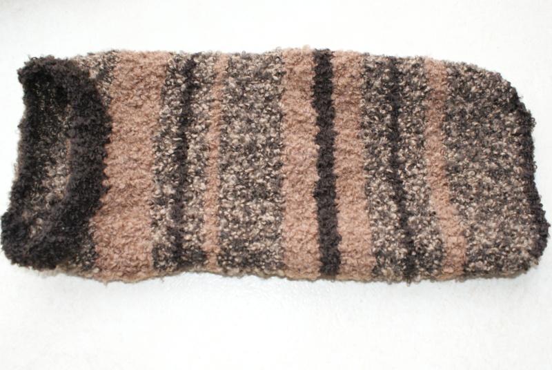 Manteau laine Marron  (tricoté main) Mantea17