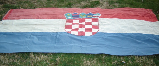 Large Croatian Flag 01214