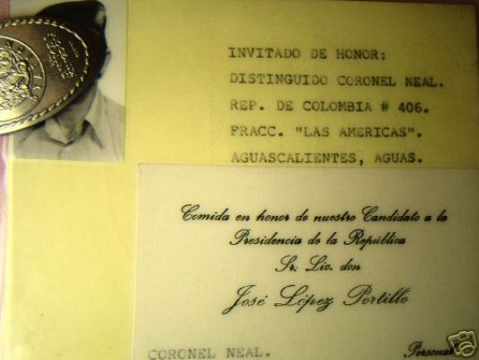 Odd Mexican PRI invitation to a US Special Forces Officer Neal310