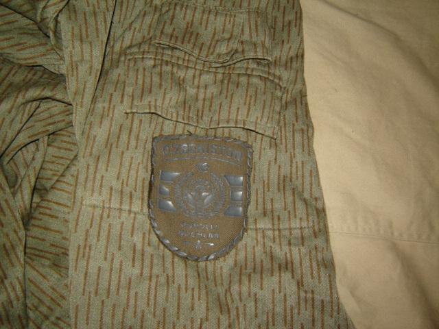 Uzbekistani East German Rain Pattern Camo Uniform Pictur23