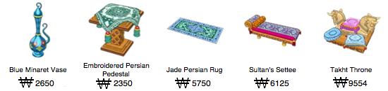 5 New Items Added to WW: Perisan Theme Random10