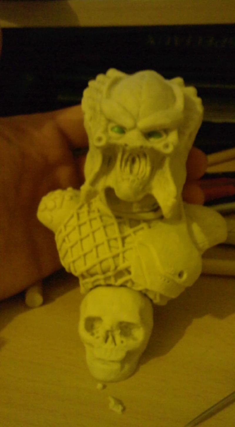 ma deuxieme sculpture mon premier predator Photo011