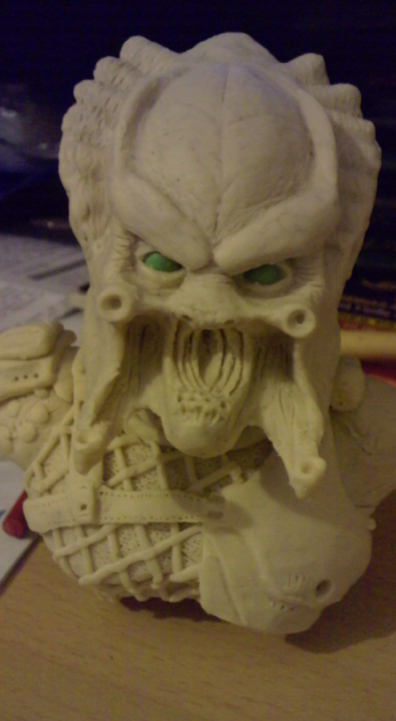 ma deuxieme sculpture mon premier predator Pred10