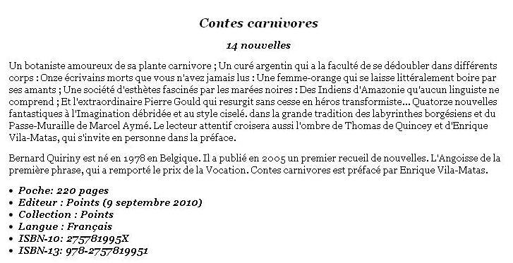 Contes Carnivores de Bernard Quiriny  Contes11