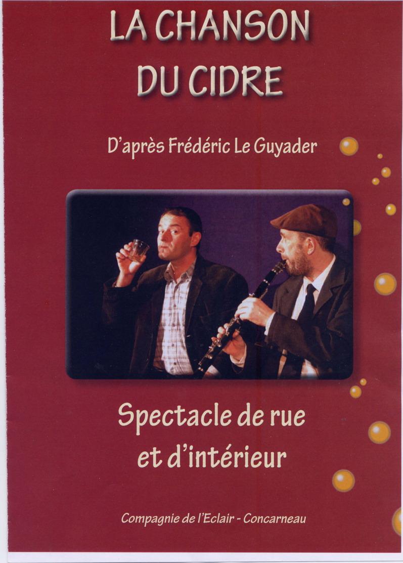 La chanson du cidre, prochain spectacle à Brasparts le 9 octobre prochain File0219