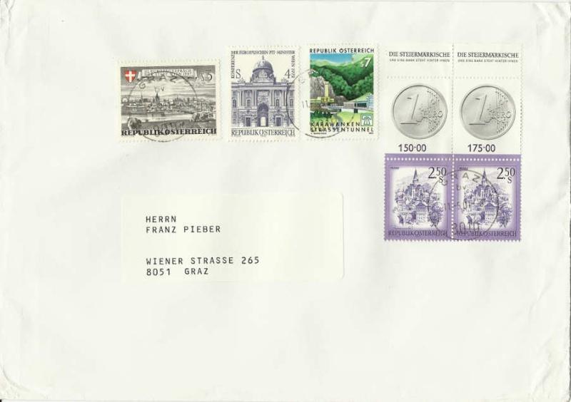Nachtrag - Münzen auf Briefmarken 0250al11