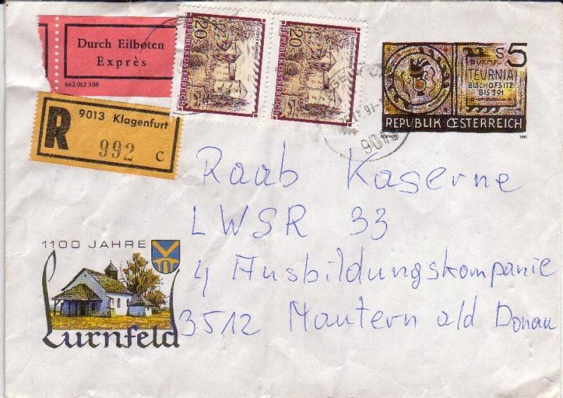 Amtliche Briefumschläge Republik Österreich, gelaufen 11_aus10