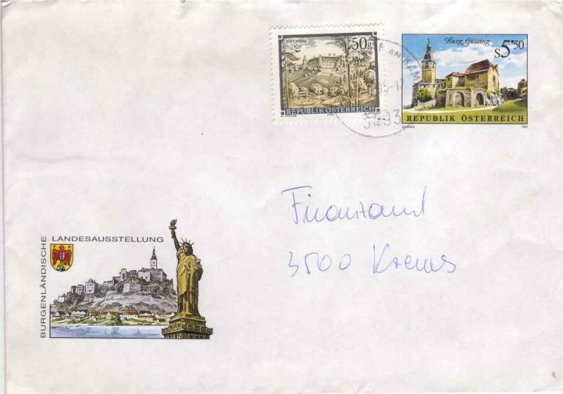 Amtliche Briefumschläge Republik Österreich, gelaufen 12_aus10
