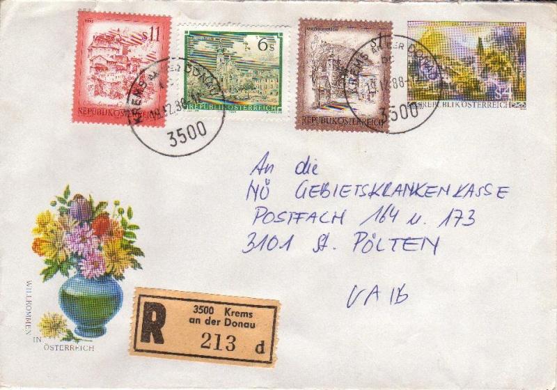 Amtliche Briefumschläge Republik Österreich, gelaufen 3_aus_10