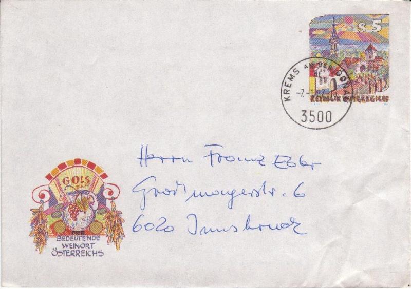 Amtliche Briefumschläge Republik Österreich, gelaufen 6_aus_10