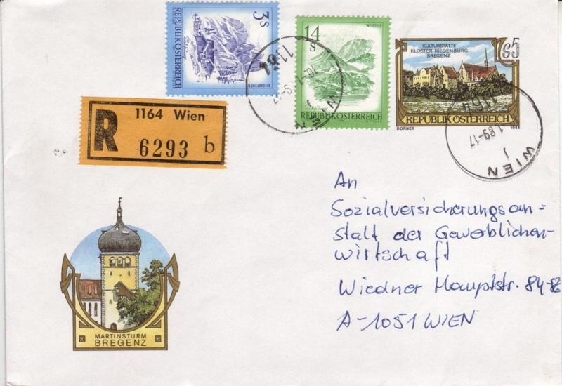 Amtliche Briefumschläge Republik Österreich, gelaufen 8_aus_11