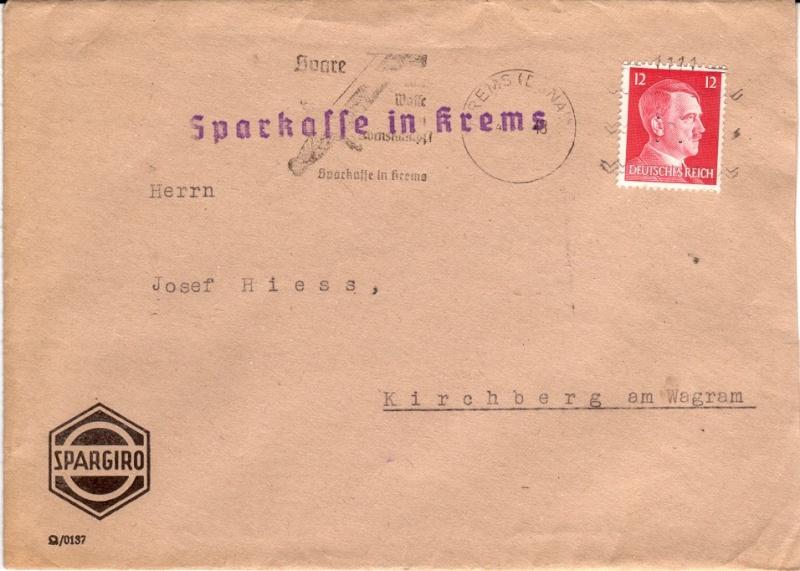 Briefe / Poststücke österreichischer Banken Bankbr12
