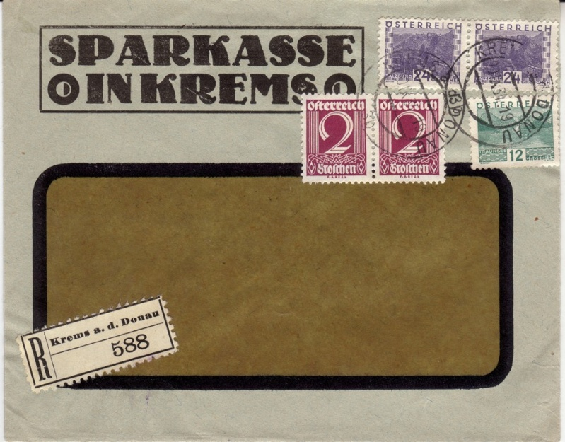 Briefe / Poststücke österreichischer Banken Bankbr13