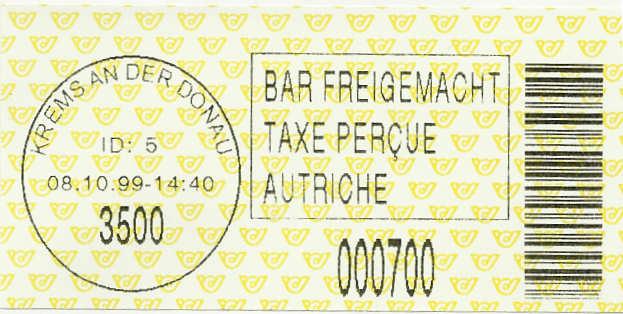 Bar-Codes in Österreich Barcod10