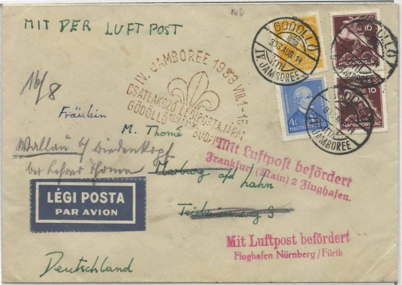 Pfadfinder Weltjamboree 1933 Flugpo10