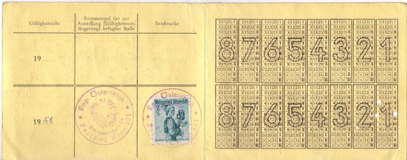 Postbedienstetenausweis zur Halbpreisfahrt - Ausweisgebühr Halbpr10