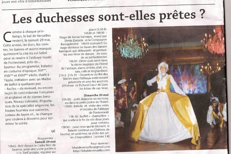 Presse du bal de Versailles Numari32
