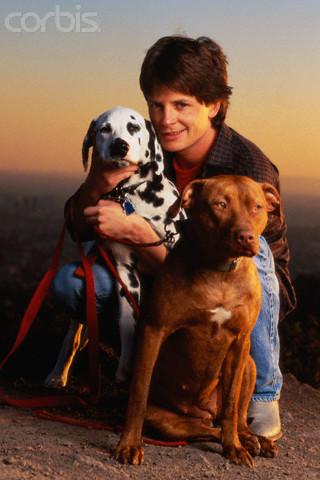 Michael J Fox fotos con perros Out07410