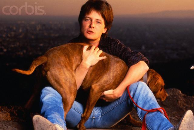 Michael J Fox fotos con perros Out07411