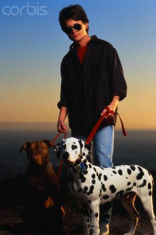 Michael J Fox fotos con perros Out07413