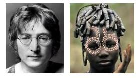 Juxtapositions oulipiennes d'images - Poésie des contrastes Lennon10