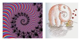 Juxtapositions oulipiennes d'images - Poésie des contrastes Spiral10