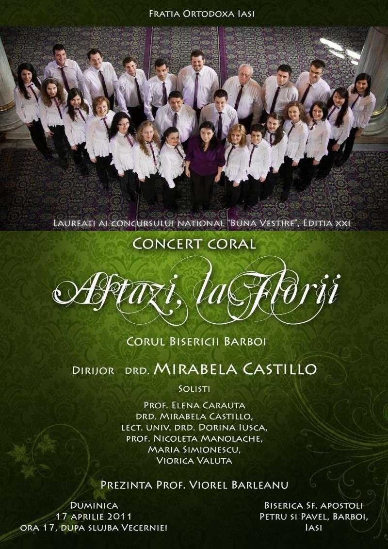 """Concert coral """"Astazi, la Florii"""" al Corului Bisericii Barboi 20187910"""