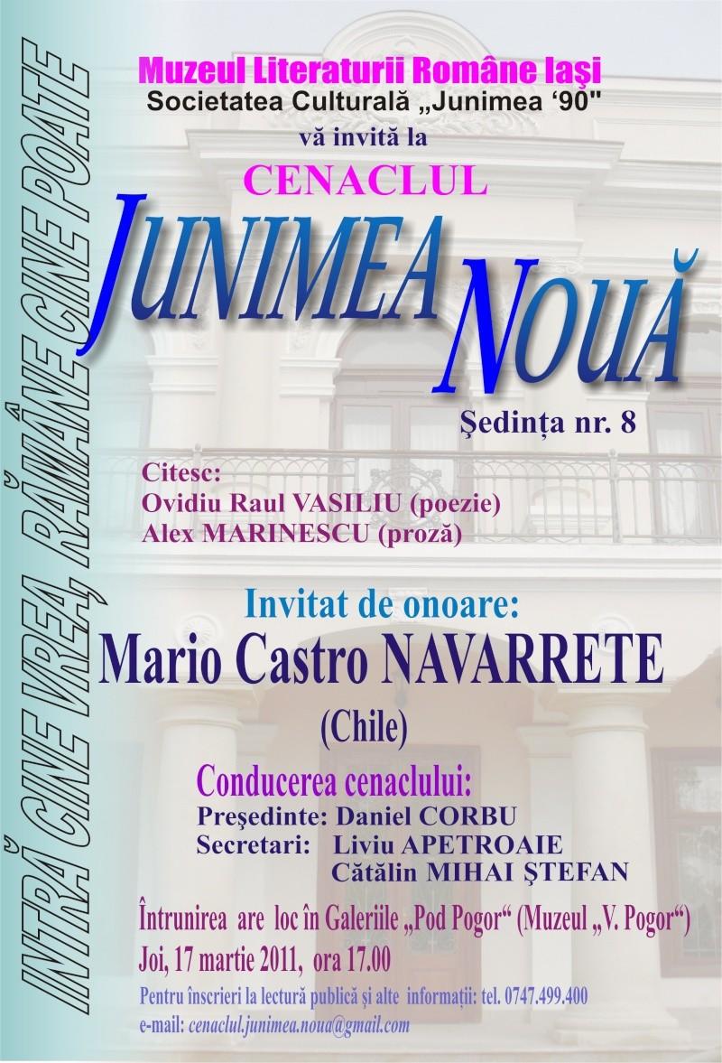 """CENACLUL """"JUNIMEA NOUĂ""""-ediţia a VIII a Afis_j11"""