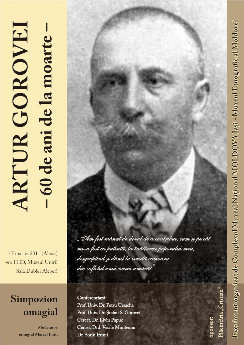 Simpozion Artur Gorovei-17 martie 2011 Afis_s11