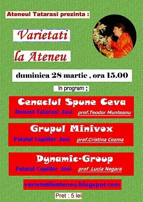 De Florii  28 martie 2010-Varietati la Ateneu Afis_v10
