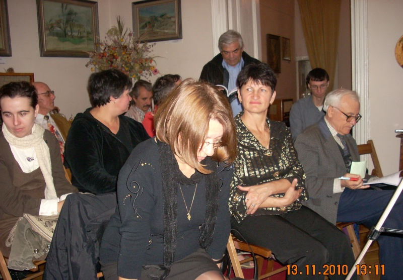 13 noiembrie 2010 -Sedinta a VII-a a Cenaclului U.P.-Lansare de carte-Vasilica Ilie-Fereastra de la Răsăritul Cuvântului Cenac155