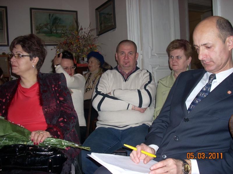 """5 Martie 2011-Sedinta a-XI-a a Cenaclului U.P.-Lansare de carte-""""Stau la poarta viselor""""-de Silvia V. Gurău Cenac202"""