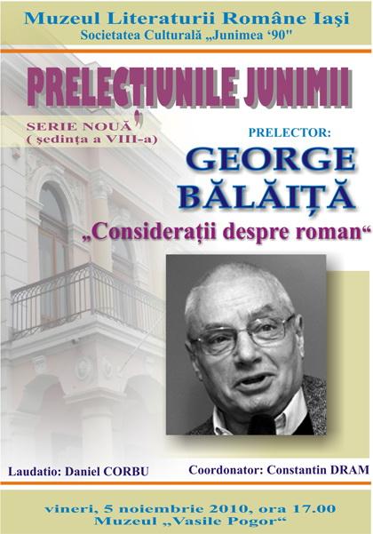 PRELECŢIUNILE JUNIMII-ediţia a VII a-George Bălăiţă Clip_143