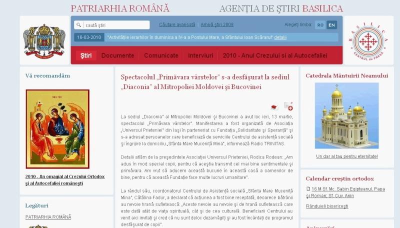 Ecouri in presa despre  actiunile organizate de Asociatia Universul Prieteniei Clip_411