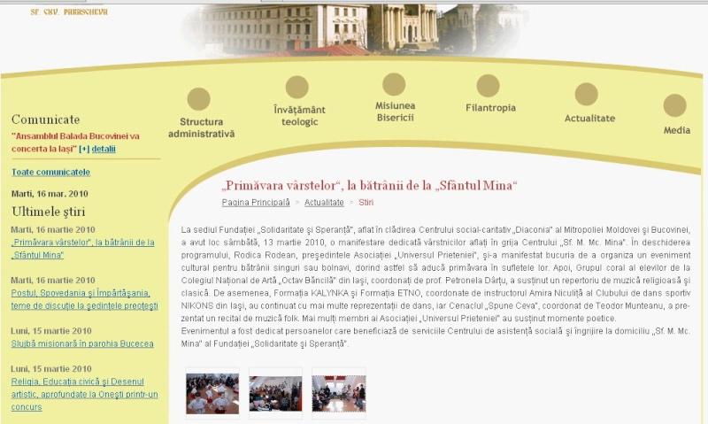 Ecouri in presa despre  actiunile organizate de Asociatia Universul Prieteniei Clip_519