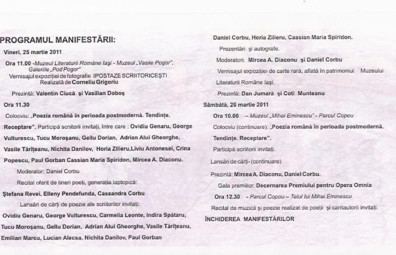 Sărbătoarea poeziei la Iaşi editia a XVIII-a-martie 2011 Scan0037